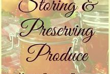 Storing & Preserving Produce / This board is for all the ways to make your harvest last longer - storing and preserving, drying and canning, freezing and pickling,...