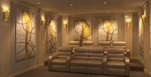 Home Theater Design / Dedicated to the interior design of Home Theaters or Media Rooms.