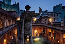 BATH / Bath UK - roman Baths - Jane Austen