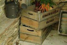 {Wooden Crate/Fruit Box} / Cajas de madera antiguas recicladas y utilizadas para decoración