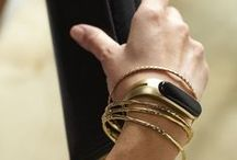 Black & Gold / A board inspired by and inspiring Mira's beautiful gold smart bracelet.