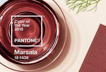 2015 Pantone of the year / Marsala 18-1438