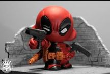 SUPERHERO STUFF / Superhero art and rockabilly hot rod jewelry. All you can find on The Iron Cat shop ! Deadpool, Spider Man, Iron Man, Star Wars, Creepy goth items...