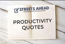 Productivity Quotes / Productivity quotes, productive, citaten, gezegdes, time management, inspiration, motivation