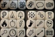 story cubes & stones