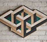Wood Geometric Patterns / Geometric shapes and patterns made from wood to create art and design.