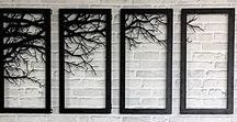 Multiple Piece Wall Art / I really like the idea of wall art that spans multiple picture frames.