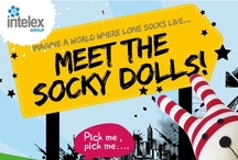 Socky Dolls make great bed companions! / Meet the Socky Dolls!  You can't wear them, but you can warm them.  Fully heatable, made of 100% sock material and gently scented with lavender, these little fun and funky guys make great bed companions on chilly evening!  Buy online for £11.95 at www.intelex.co.uk