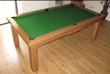 Our Colour 5 - Luxury Pool Tables / A selection of our Pool Tables in various styles and wood types, all finished in Wood Colour 5