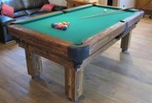 Our Colour 6 - Luxury Pool Tables / A selection of our Pool Tables in various styles and wood types, all finished in Wood Colour 6