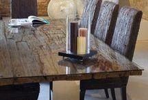 JAVA / Beautiful tables and consoles made of recycled railway teak ▪ Wunderschöne Tische und Konsolen aus recyceltem Bahntrassen-Holz.
