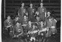 1940s / Shawnee County fielded 10 championship teams in the 1940s. Capitol Post 1 led the way with seven state American Legion titles (1940, 1942, 1944-48). Topeka High became the first in the county to win a state high school baseball championship (1947). The Owls won a pennant (1942). And, the Decker Oilers became the only Topeka team to ever win a state semi-pro championship (1948). Many of the images were digitized through a joint project between the SCBHOF and the Kansas Historical Society (KHS).