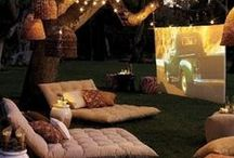 Outdoor Movie Theatre / Amaze your guests and get everything you need from CVR to bring the cinemas to your own backyard.