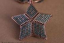 Beaded Stars, Triangles, Geometric....