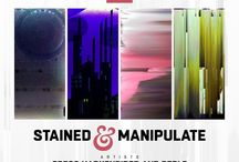 Stained & Manipulate | Mar 16 - Apr 12 2018 / Images of the art from the exhibit. Featuring the work of Gregg Harkenrider and Perle.