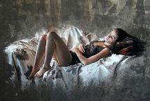 Pastello / La donna vista da Nathalie   http://picoulet.com/les-oeuvres/