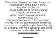 #Islam / This board includes everything to do with Islam: outfits, quotes, sayings, pictures, and much more ...  / by Rukhsar Ali Din