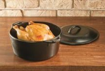 Cast Iron / Cast Iron Cookware. Made in the USA out of 100% carbon steel, these pans hang tough in professional kitchens as well as the campsite.  Cast Iron Skillets, Dutch Ovens, Griddles, and More!