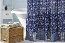 Shower Curtains / Shower Curtains for the country primitive home or cabin.  An assortment of Shower Curtain designs include: Plaid Curtains, 5-point Star Curtains, Block Pattern Curtains, and More!