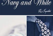 Combination colors blue white