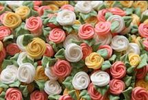 Cake/Cupcake Toppers/Tutorials / Also see my Sugar Flowers board for tutorials on how to make  flowers using gumpaste/fondant / by Toni St Angelo