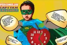 """Capitán Saludable / Consejos saludables de nuestro particular superhéroe """"Capitán Saludable"""""""