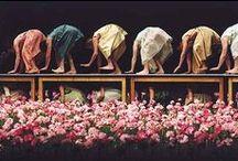 Dança_Teatro / Philippine Bausch, mais conhecida como Pina Bausch...uma coreógrafa, dançarina, pedagoga de dança e diretora de balé alemã. Conhecida principalmente por contar histórias enquanto dança, suas coreografias eram baseadas nas experiências de vida dos bailarinos e feitas conjuntamente. Várias delas são relacionadas a cidades de todo o mundo, já que a coreógrafa retirava de suas turnês ideias para seu trabalho.