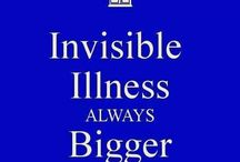 Invisible Illness & Invisible Disability / CRPS & chronic pain are invisible illnesses / disabilities. Here are a range of quotes, tips, help & advice about invisible illnesses/disabilities