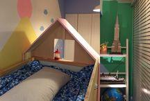Ryusei & Elena's room / produce & painting by AMI SUMA http://www.amisuma.com  Ryusei & Elena's room