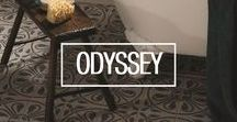 O d y s s e y / Go on a journey with Odyssey - tiles inspired by foreign lands. The inspiration behind the designs came from many different artefacts, patterns and places around the world. Style your home with a touch of global adventure.