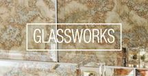 G l a s s w o r k s / Glass has been used in the decoration of buildings for a thousand years or more. Its reflective qualities are continuously being redefined. Our Glassworks collection makes it possible for you to enjoy the translucent beauty of this versatile and colourful material on interior walls throughout the home, as well as in commercial applications. Explore our stylish glass tiles in a range of colours, sizes and finishes.