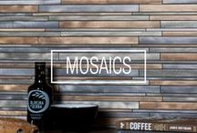 M o s a i c s / Marvellous mosaics for all areas of the home in a rainbow of colours and finishes. From feature walls, to murals to simple splashbacks, mosaic tiles are the epitome of luxury. Various shapes such as squares, hexagons, bricks and more make up the collection.
