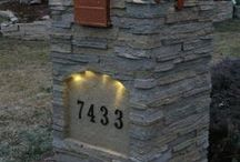 Design Ideas - Mailboxes / Faux stone mailbox posts and columns dress up an exterior, adding curb appeal.