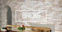 b r i c k s / The top 2016 trend for interior design - brick tiles!
