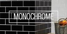 m o n o c h r o m e / Timeless monochromatic patterns and tile designs from Original Style