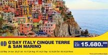 10D in ITALY CINQUE TERRE + SAN MARINO with AVIA Tour / Let's explore the beauty of Italy. For more info, please check here http://www.avia.travel/tour/detail/20071/gday_italy_cinque_terre_san_marino
