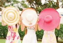 Hats / Wide brimmed hats look amazing on just about everyone and shade your face from damaging UV rays.