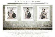 Culture {Collection} by Francoise V / The Culture Collection is a collection of work celebrating mysterious and forgotten ethnic cultures around the world.  In Africa, when an old man dies, it's a library burning.  Cultures may fall into oblivion without a trace and become the silent past. I want to preserve the interesting and visually fascinating traditions, that are threatened by imprinting them on paper.