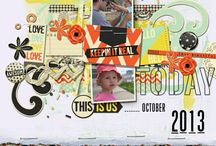 Digital scrapbooking layout ideas / Design ideas