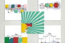 Digital scrapbooking layout templates / Templates