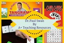 Paul Swan Maths Resources by A Plus Teaching Resources / The Master of Maths - Paul Swan games & activities are fun for teachers & students alike...They make every math lessons memorable!