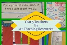 Year 5 Teachers by A Plus Teaching Resources / Australian Curriculum Linked resources for busy Teachers