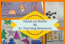 Hands on Maths by A Plus Teaching Resources / Great hands on equipment & ideas for your maths lessons.