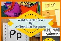 Literacy Activities, Word Work, Spelling & Letter Recognition - by A Plus Teaching Resources / Literacy Activities, ideas & resources for a range of  literacy concepts. Find phonics, word work, letter recognition, and spelling hands-on center ideas