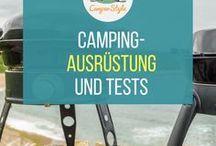 Camping-Ausrüstung / Welche Ausrüstung muss auf jeden Fall mit in den Camping-Urlaub? Welche Produkte sind empfehlenswert? Hier gibt es Tipps, Infos und Checklisten!