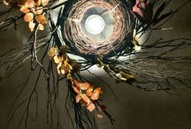 My personal Artworks. / wood, branches, lights, nature, design.