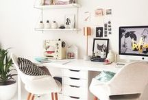 Wonderful Workspaces / A beautiful space creates beautiful work. These spaces are very inspiring.