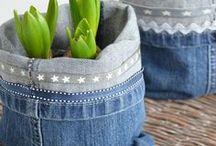 DIY / UPCYCLING / Ideen, was man alles aus alten Jeans und Gebrauchtem machen kann! Upcycling ist das Stichwort