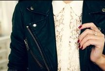 Style Details: leather, stripes, denim, lace & sequins
