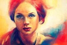 Artwork - Faces / I personally love painting faces so of course I need a folder. / by Gina Grimm